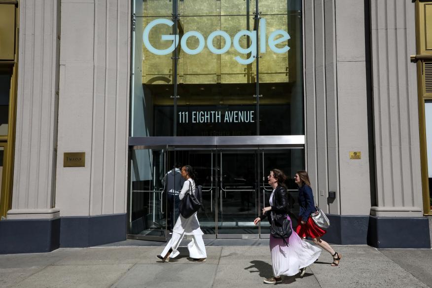 La entrada de las oficinas de Google en Nueva York.