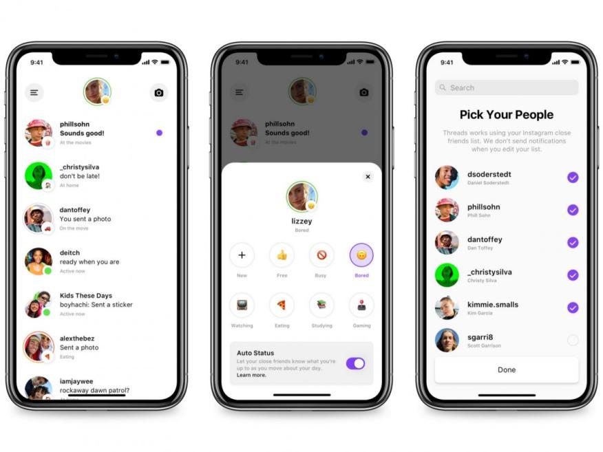 Pantallazo de Threads, la nueva app de mensajería autónoma de Instagram.