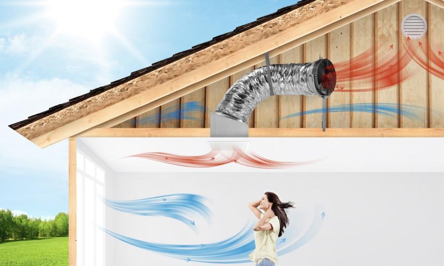 Estos ventiladores solares enfrían y purifican toda la casa