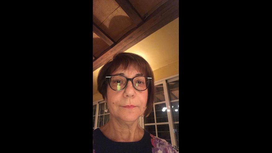 Mari Carmen, la mujer que lleva la cuenta de Compromís en el debate electoral.