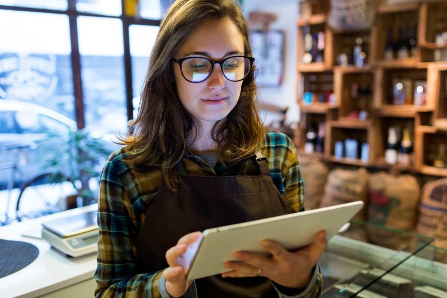 Mujer joven emprendedora