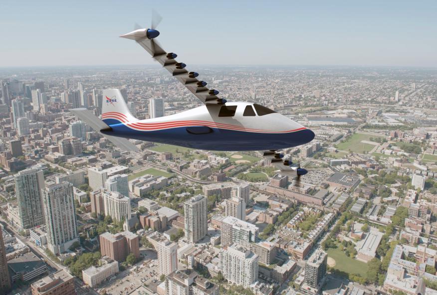 El X-57 Maxwell, el avión eléctrico de la NASA, contará con 14 motores y tendrá una autonomía de 160 kilómetros.