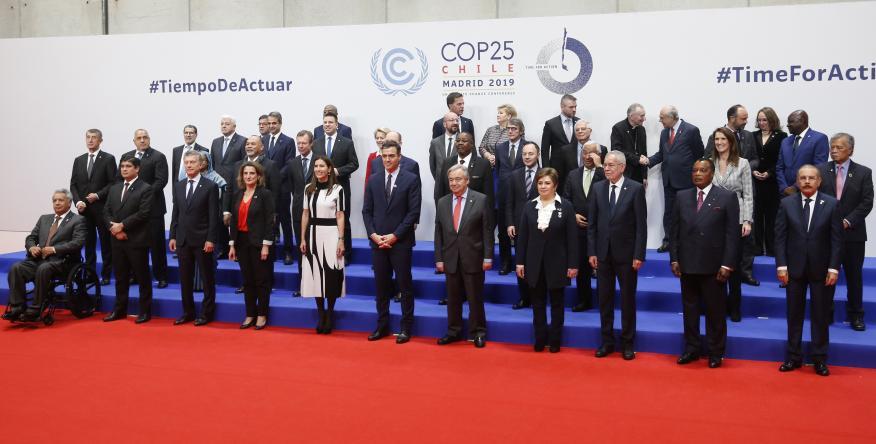 Foto de familia de la inauguración de la COP25