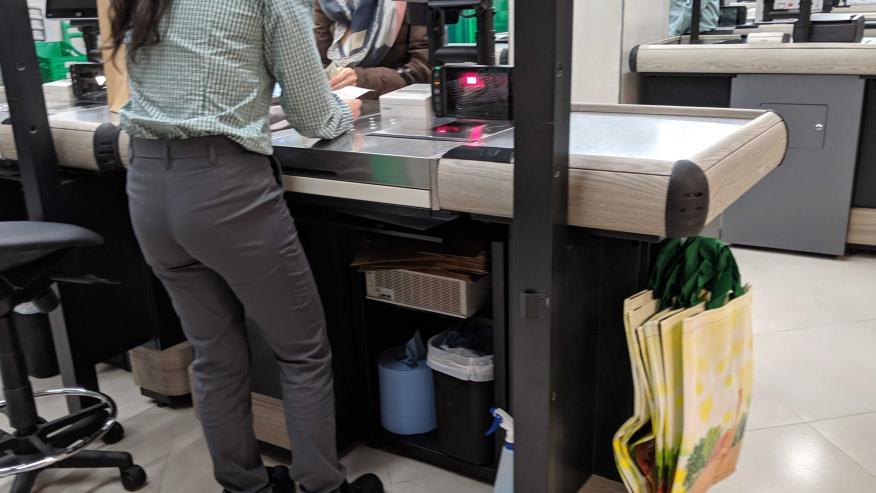 Mercadona: caja de una tienda eficiente
