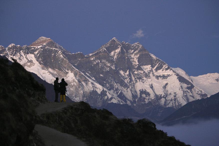 Monte Everest en Syangboche, Nepal.