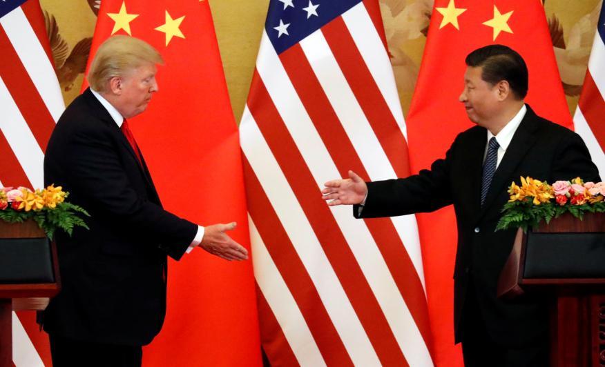 El presidente de EE.UU., Donald Trump, y su homólogo chino, Xi Jinping