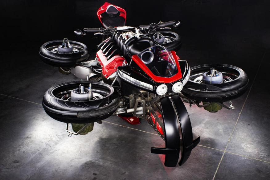 There are only 5 of this limited edition flying motorcycle from France, and they cost half a million dollars