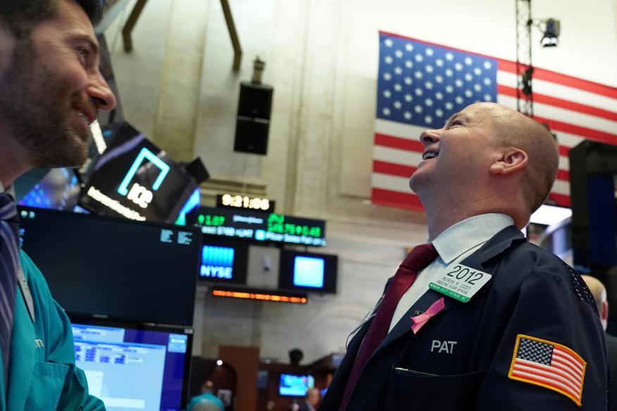 Trader satisfecho con la sesión en Wall Street
