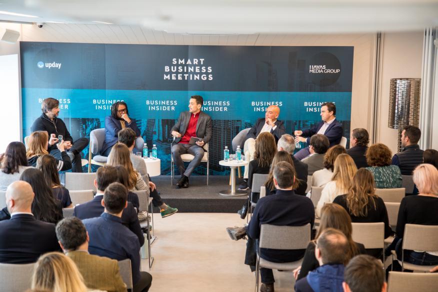 De izquierda a derecha: Gabriel Subías, Amuda Goueli, Manuel del Campo, Kike Sarasola y y Abel Matutes Prats.