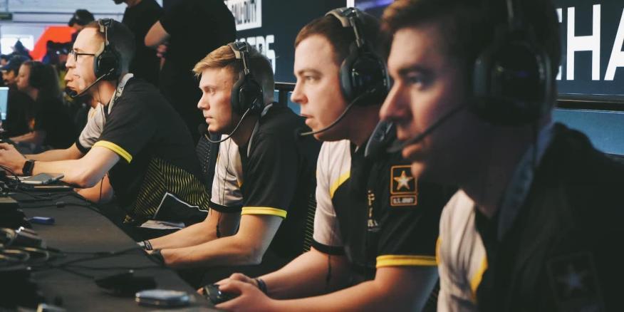 Army Esports en una competición de Call of Duty, Minneapolis (EE.UU.).