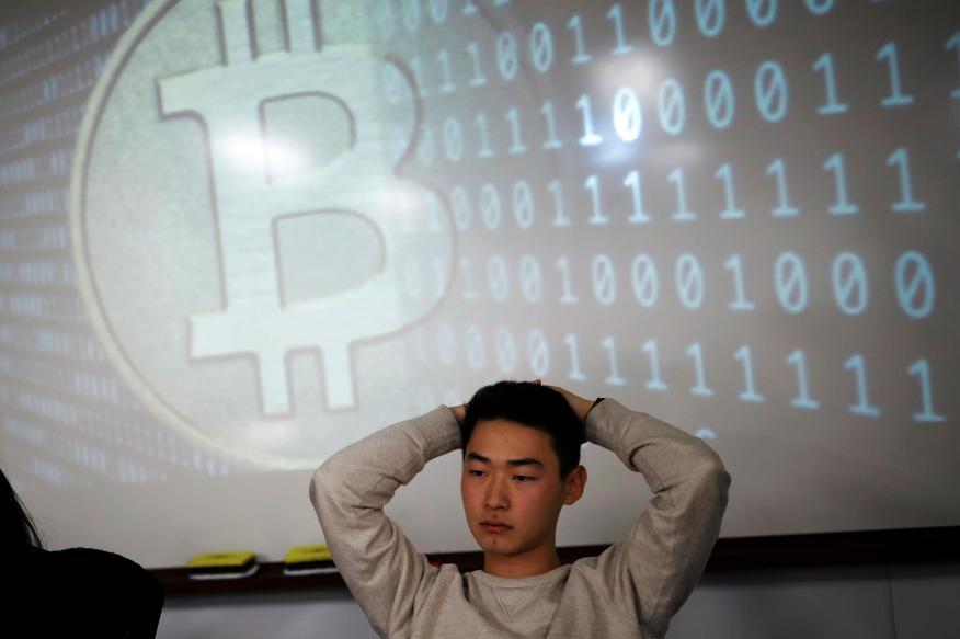 Especulador con Bitcoin