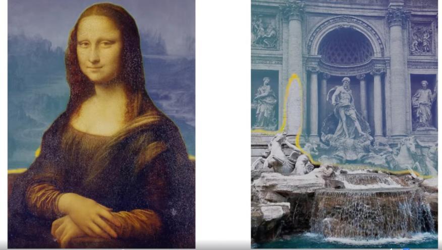 Imagen 2D transformándose en 3D.