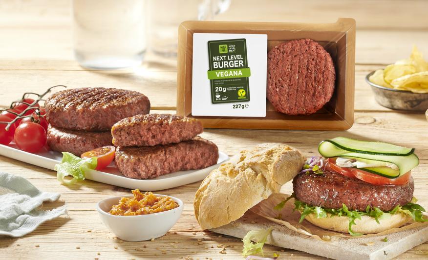 Hamburguesa vegana de Lidl.