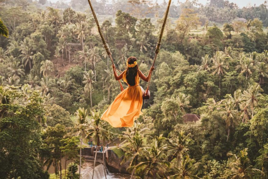 Influencer en Bali.