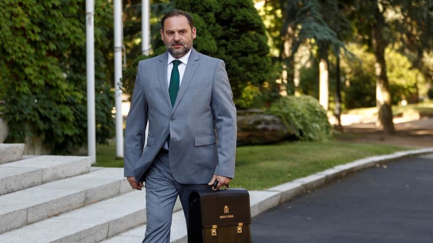 José Luis Ábalos en su llegada al primer Consejo de Ministros en 2020.