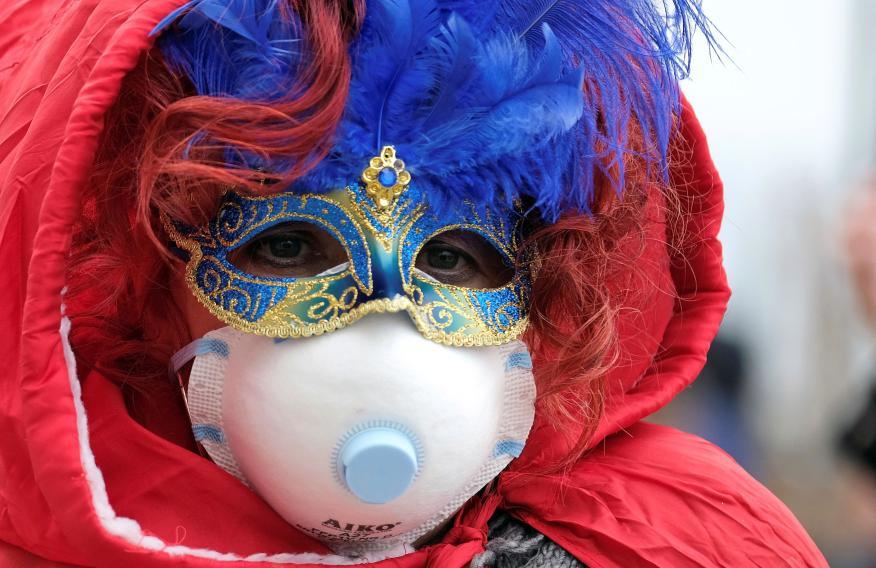 Miedo al coronavirus en el carnaval de Venecia