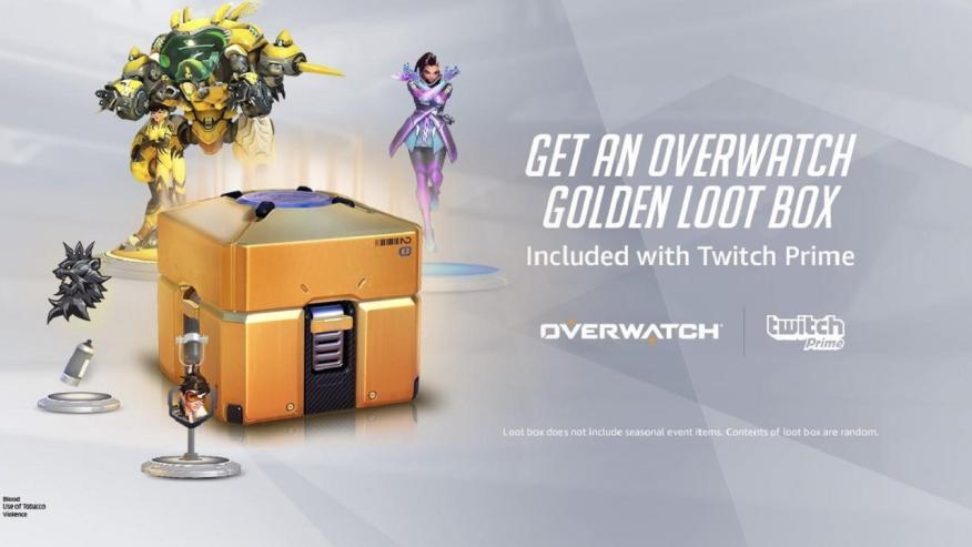 Oferta de una loot box exclusiva en Overwatch.