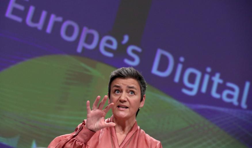 La vicepresidenta ejecutiva de la Comisión Europea, Margrethe Vestager