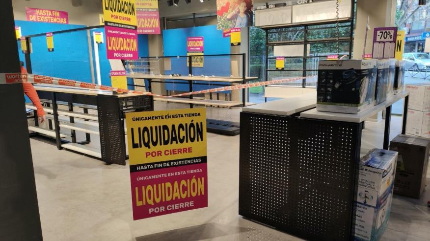 Una imagen del interior de Worten en Bravo Murillo (Madrid), casi lista para cerrar.