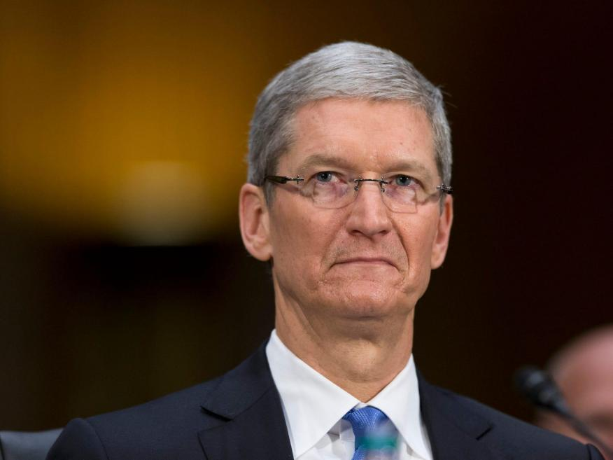 """Apple CEO Tim Cook. Under the proposed settlement, Apple would pay $25 per iPhone, but admit no wrongdoing in a scandal that has become known as """"batterygate."""""""