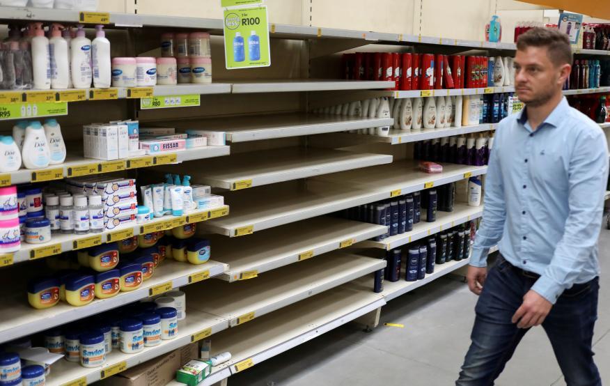 desabastecimiento supermercados, desinfectante manos coronavirus