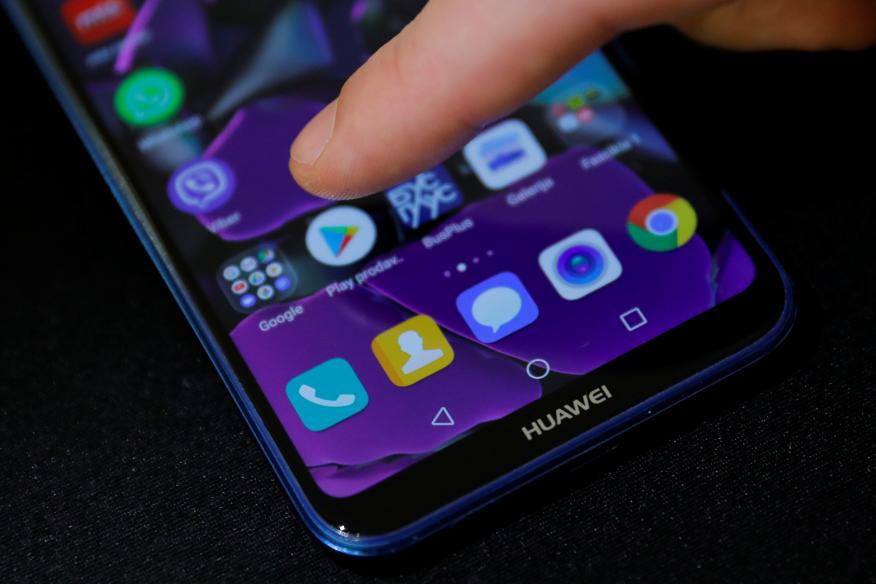 Un dispositivo Huawei con servicios de Google