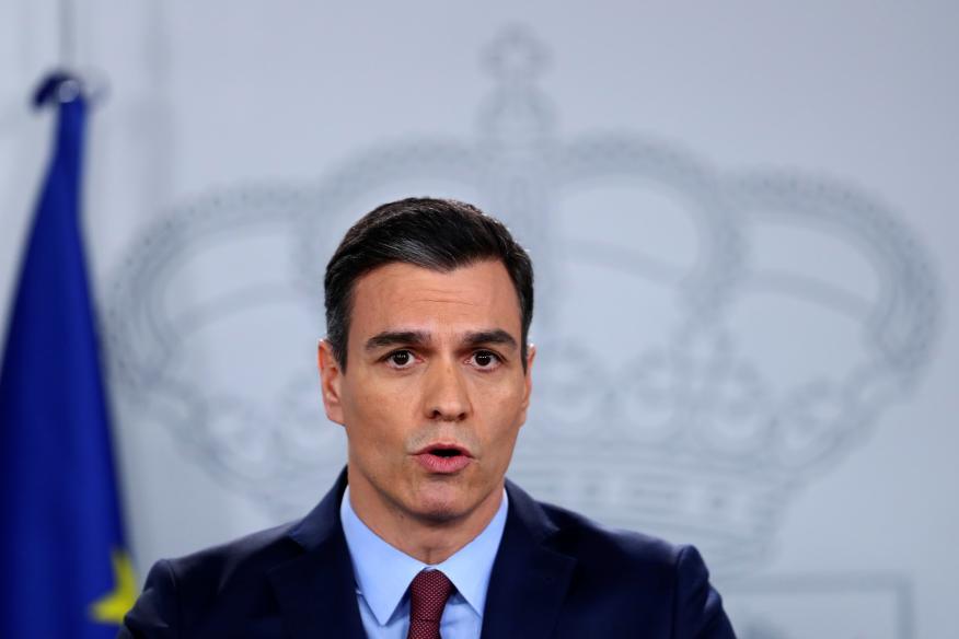 Pedro Sánchez explica el plan de choque contra el coronavirus en rueda de prensa.