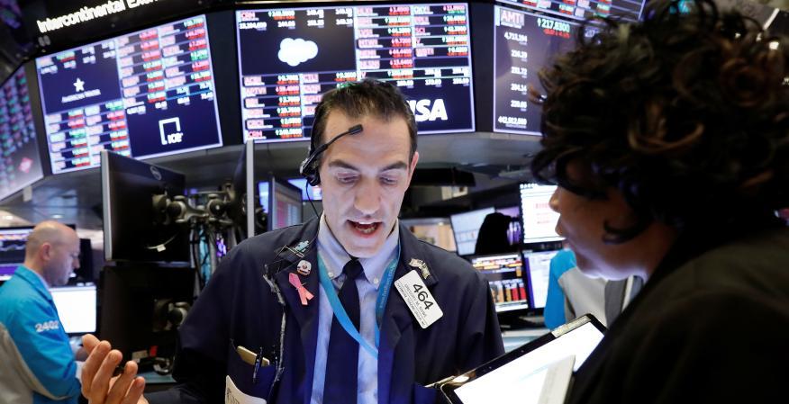 Traders ante el pánico de Wall Street.