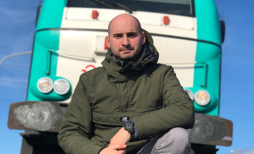 Carlos Yuste, maquinista de mercancías de Transfesa Logistics