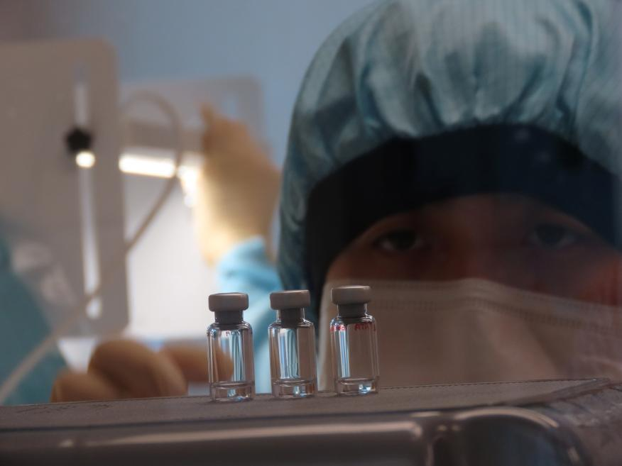 Dosis de la vacuna que se está empezando a probar en humanos en Reino Unido