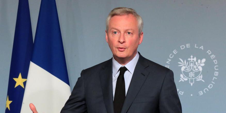 El ministro de finanzas francés Bruno Le Maire en París, Francia, el 15 de abril de 2020.