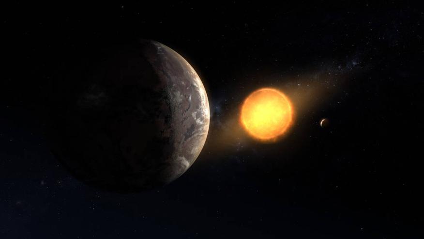 Ilustración de Kepler-1649c orbitando su estrella.