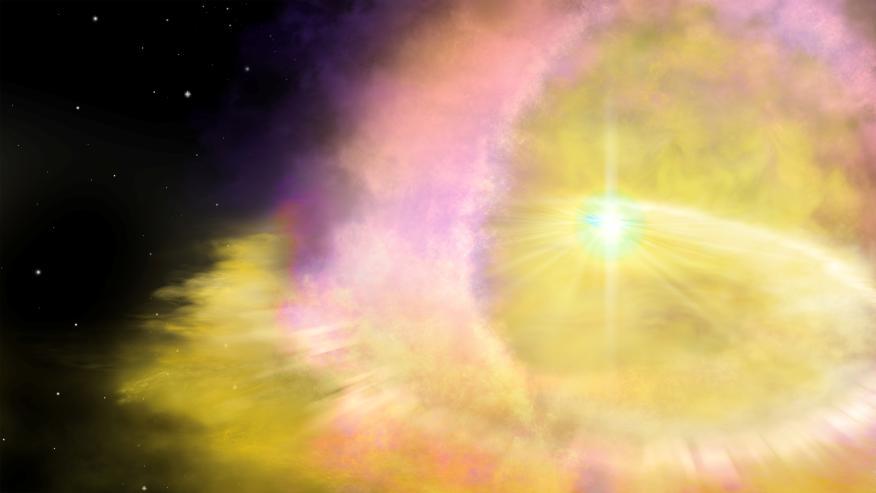 Ilustración de la supernova SN2016aps.