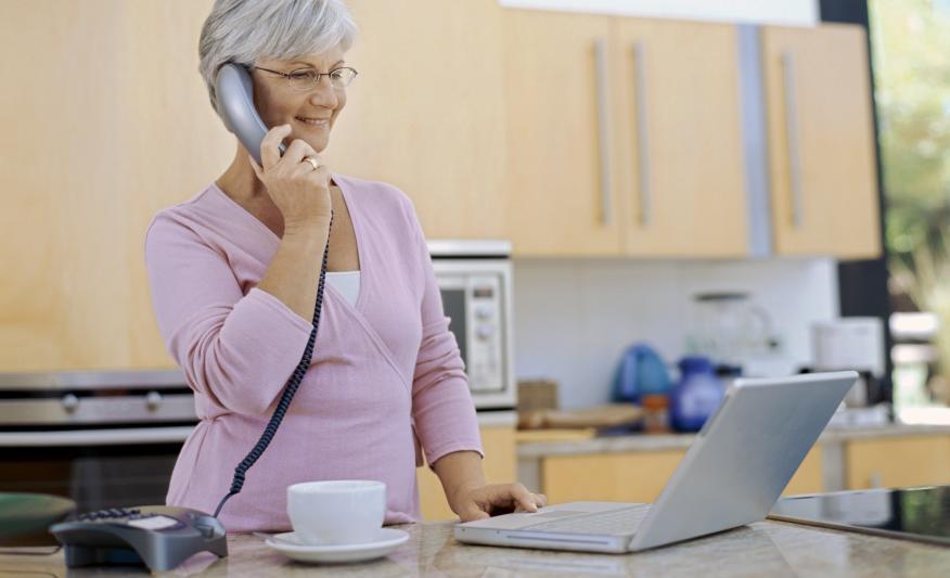 Teléfono fijo para mayores