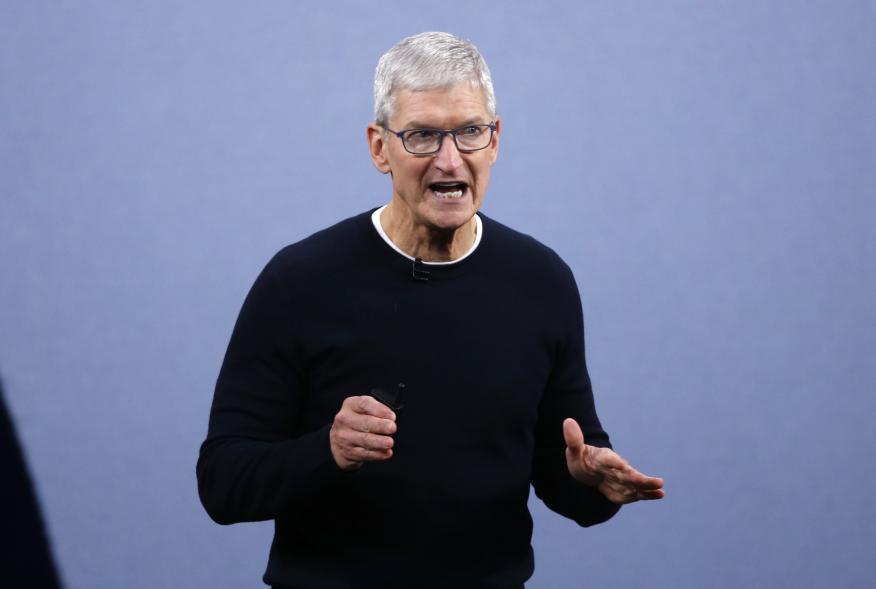Tim Cook, CEO de Apple, durante un evento en Cupertino (California, Estados Unidos).