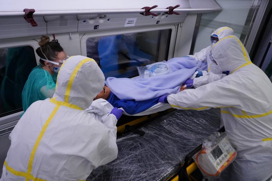 Uno de los trenes medicalizados para hacer frente a la pandemia del coronavirus