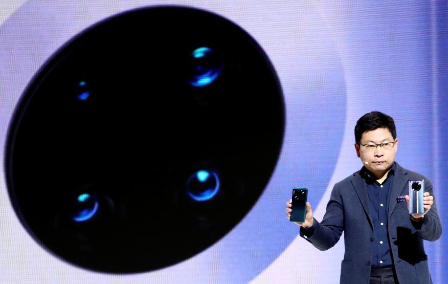 El CEO del grupo Huawei, Richard Yu, en la presentación del Huawei Mate 30.