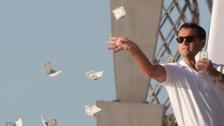 Escena de la película El lobo de Wall Street