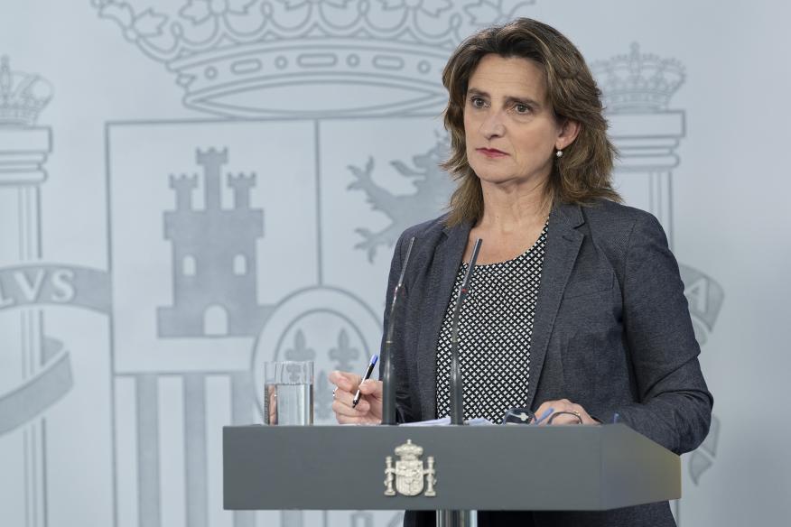 La ministra para la Transición Ecológica y el Reto Demográfico, Teresa Ribera.
