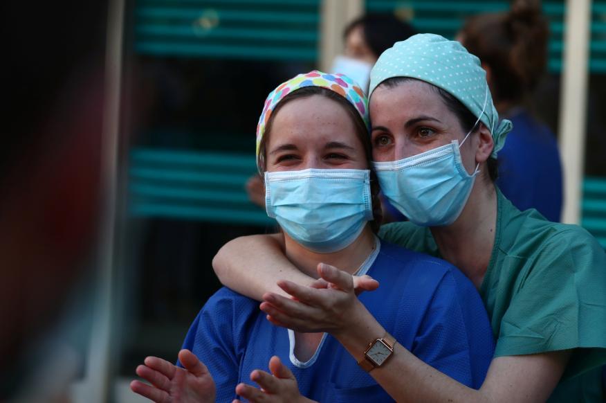 El personal médico del hospital Fundación Jiménez Díaz.