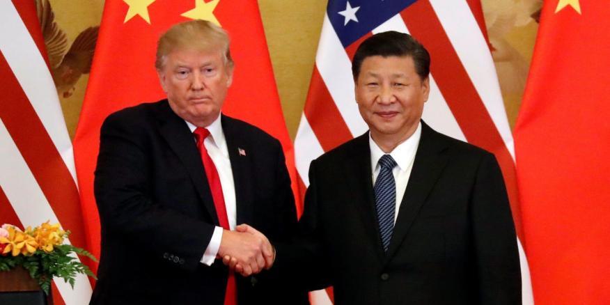 El presidente de Estados Unidos, Donald Trump, y el presidente de China, Xi Jinping, en una reunión en Pekín el pasado noviembre