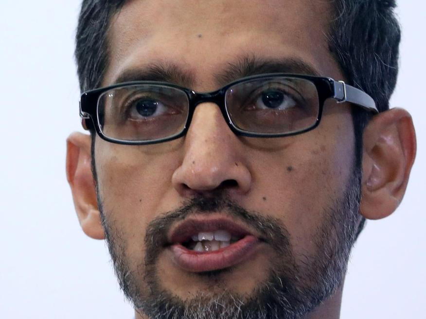 Sundar Pichai, CEO de Google y Alphabet, en una conferencia en Bruselas en enero de 2020.