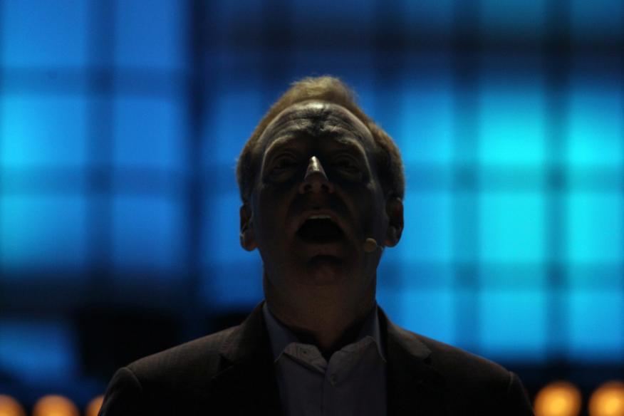 Brad Smith, presidente de Microsoft, en una conferencia en Lisboa en noviembre de 2019.