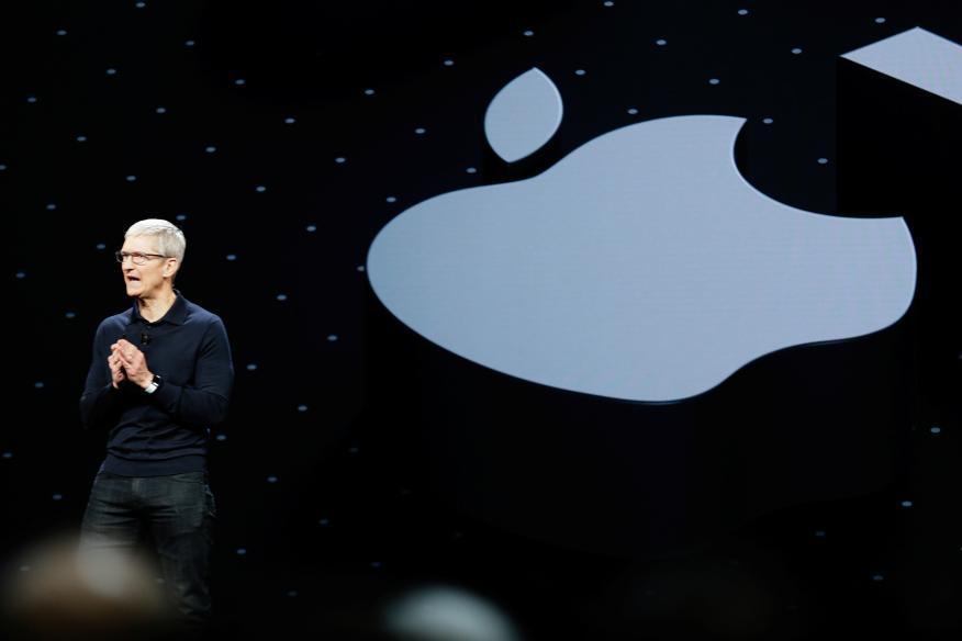 El CEO de Apple, Tim Cook, durante la WWDC de 2018