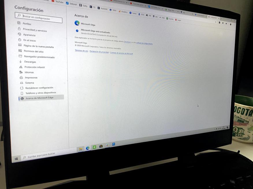 Cómo actualizar Microsoft Edge