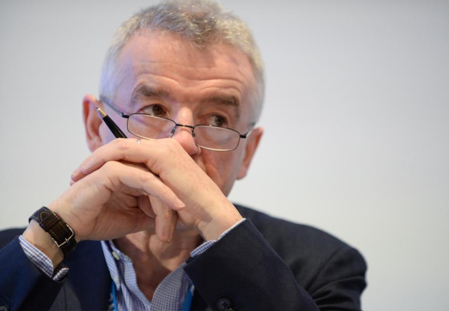 El consejero delegado de Ryanair, Michael O'Leary, en un encuentro en Bruselas.