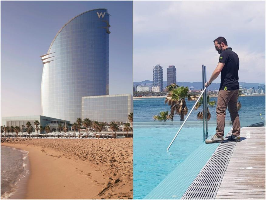 Daniel Ordóñez ha sido la única persona viviendo en el W Barcelona durante 3 meses.