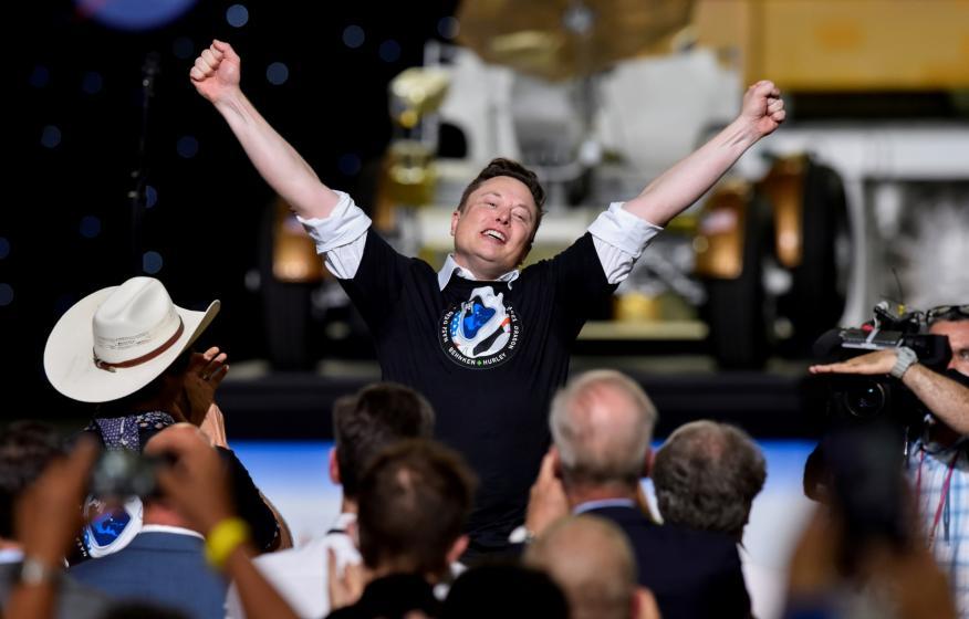 Elon Musk, después del lanzamiento de SpaceX.