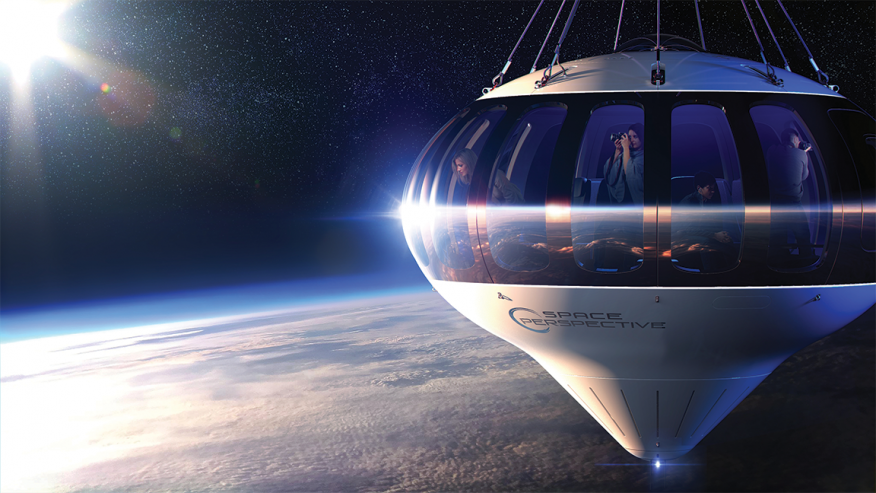 La nave con forma de globo terráqueo de Space Perspective.