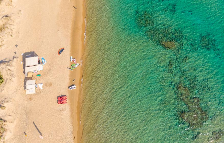 Playa Halikounas, Corfú